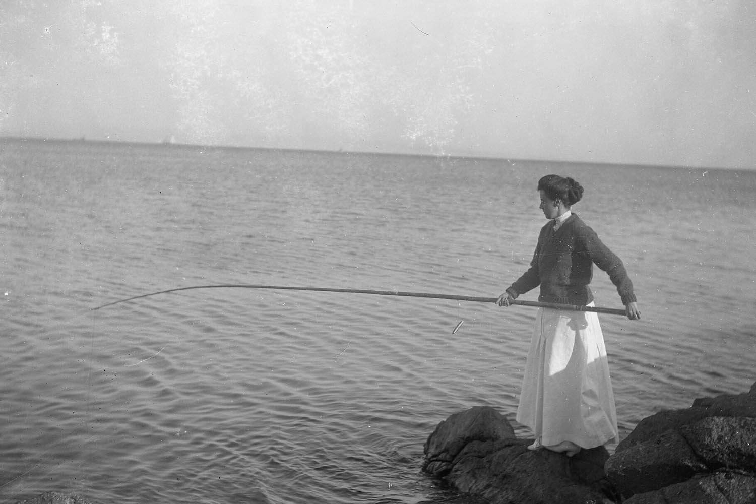 Keeper wives often fished to supplement the family food supply.