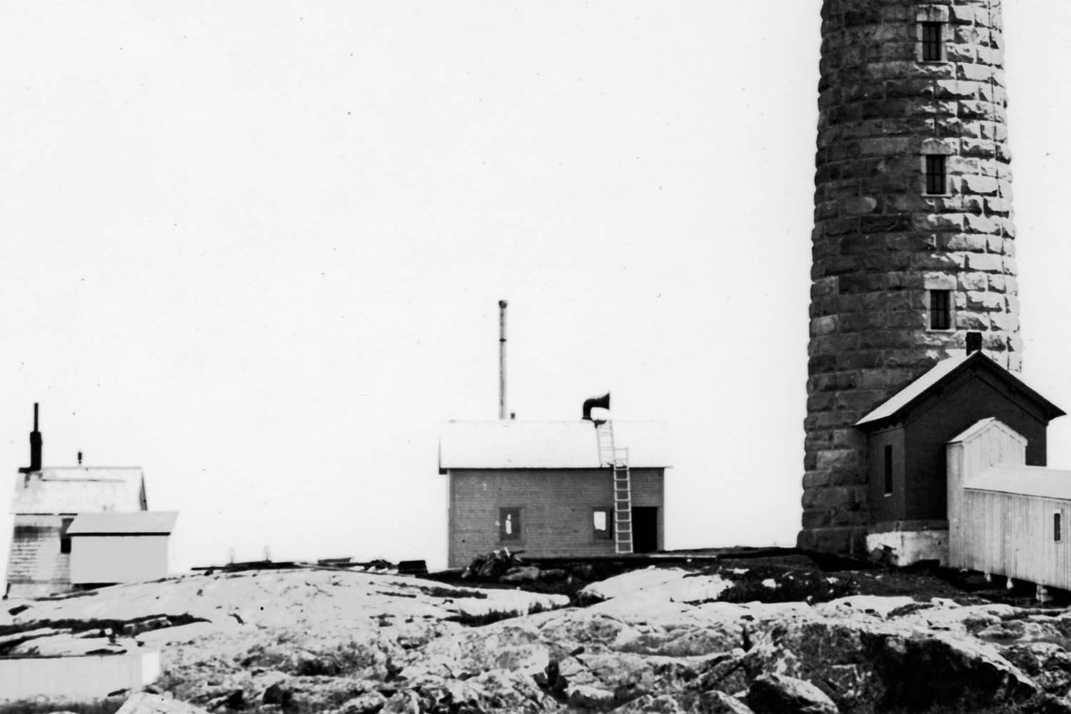 South tower with two original fog signals c.1868.