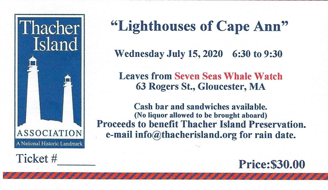 2020 Lighthouse Cruise Ticket